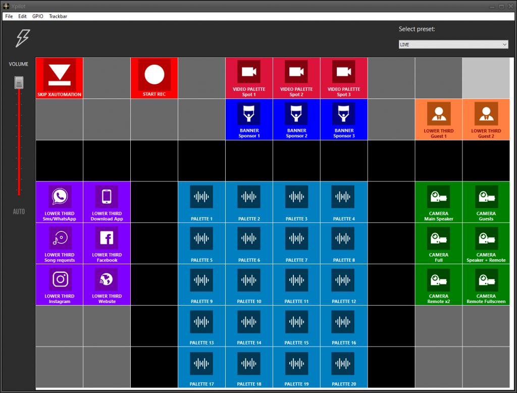 Centralina di controllo per i programmi Xdevel e per software e hardware di terze parti